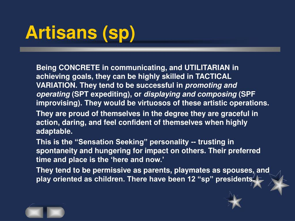 Artisans (sp)