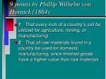 9 points by phillip wilhelm von hornick 1864