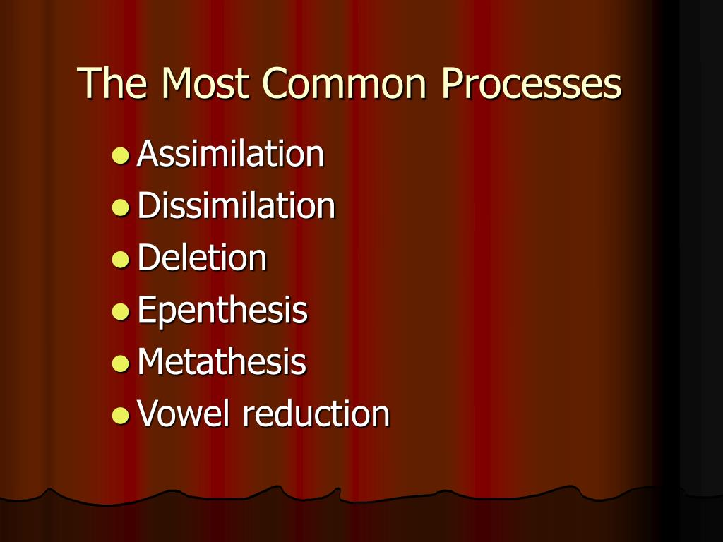 The Most Common Processes