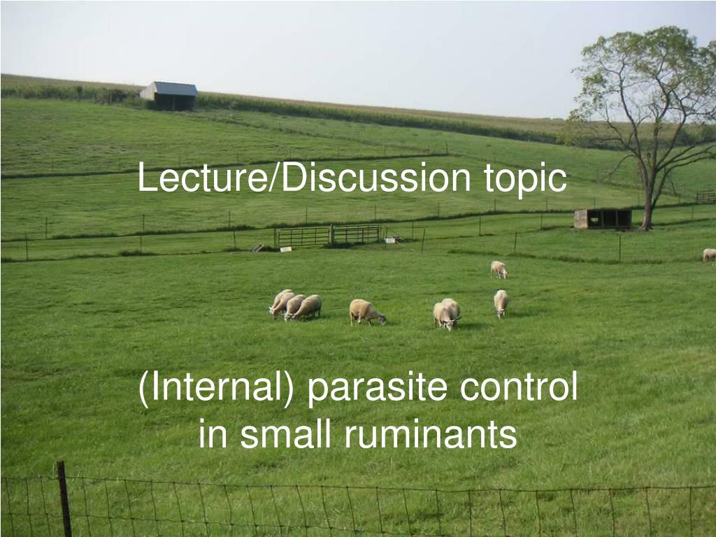 (Internal) parasite control