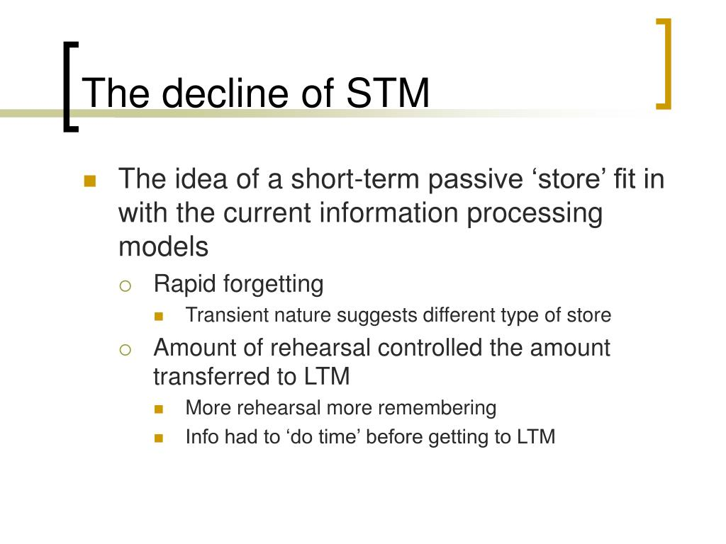 The decline of STM