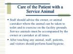 care of the patient with a service animal10