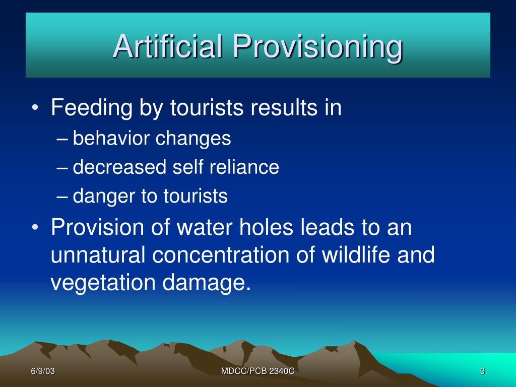 Artificial Provisioning