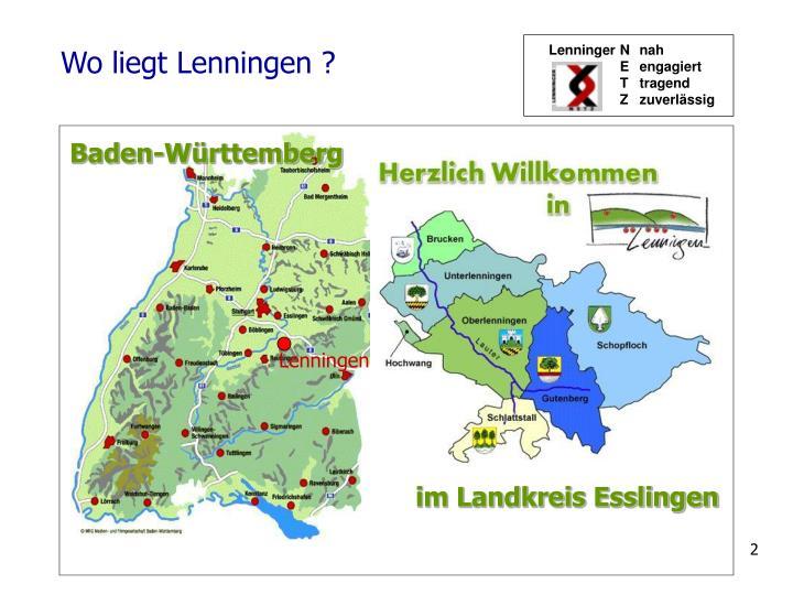 Wo liegt Lenningen ?