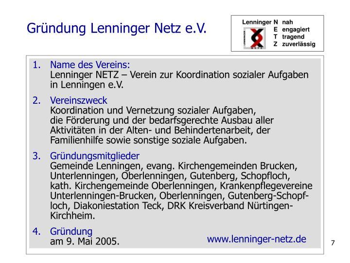 Gründung Lenninger Netz e.V.