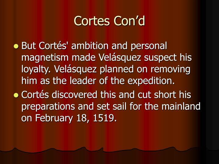 Cortes Con'd
