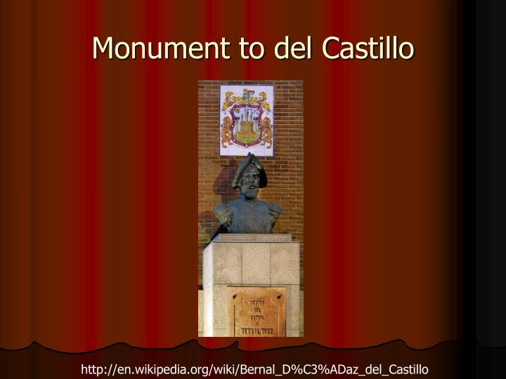 Monument to del Castillo