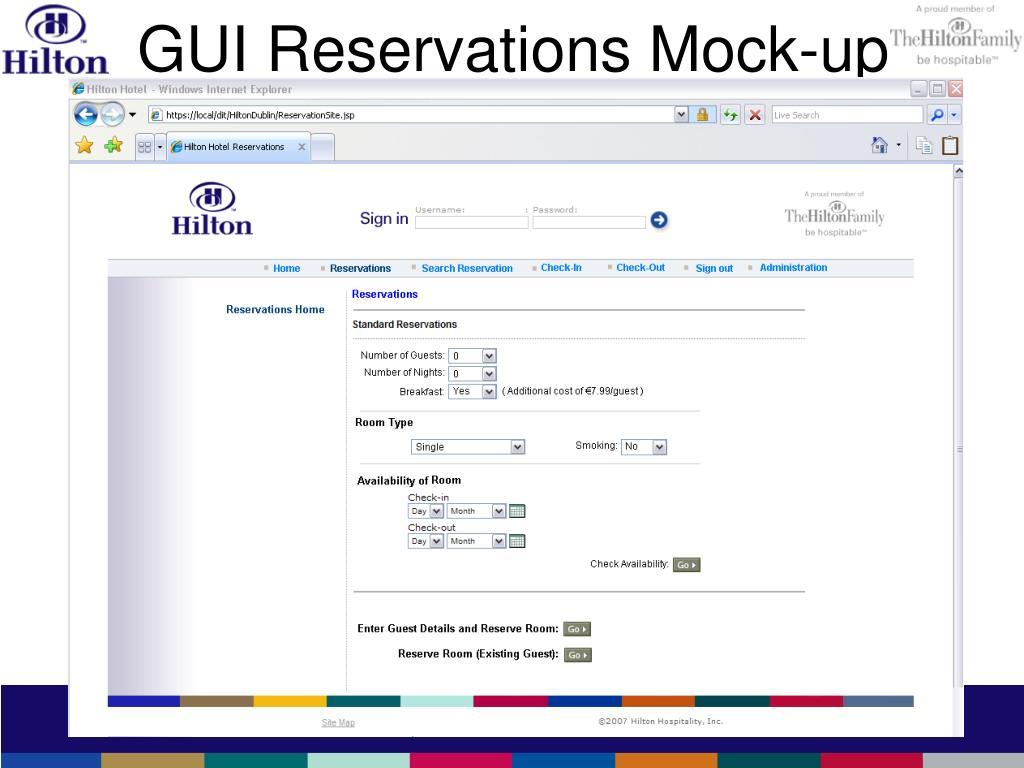 GUI Reservations Mock-up