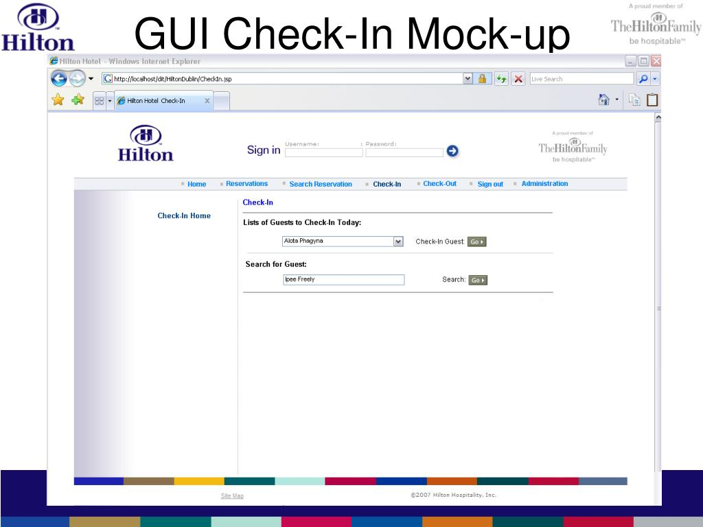 GUI Check-In Mock-up