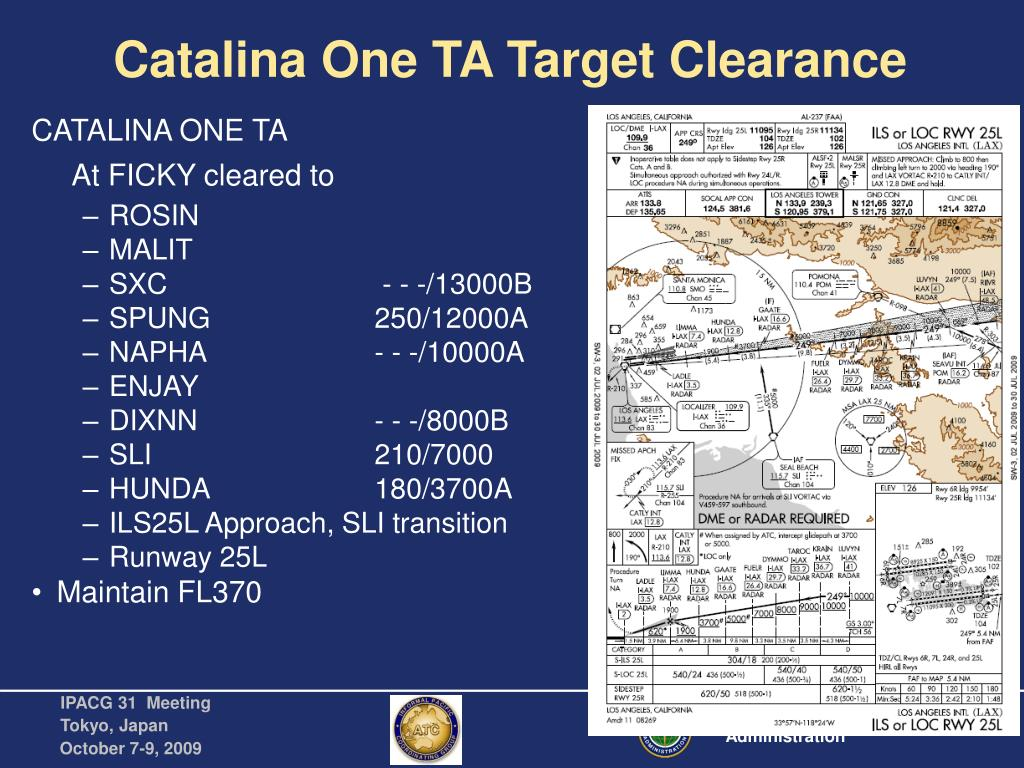 Catalina One TA Target Clearance