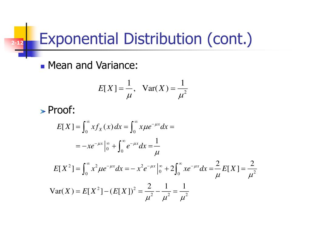 Exponential Distribution (cont.)