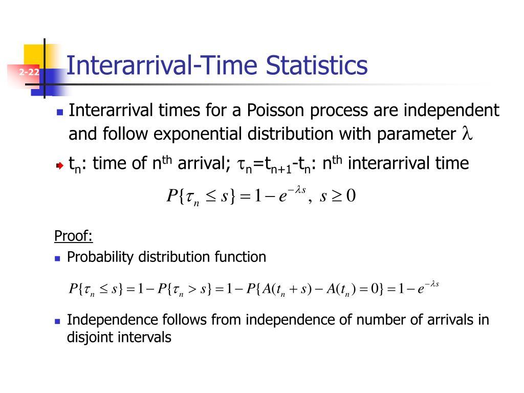Interarrival-Time Statistics