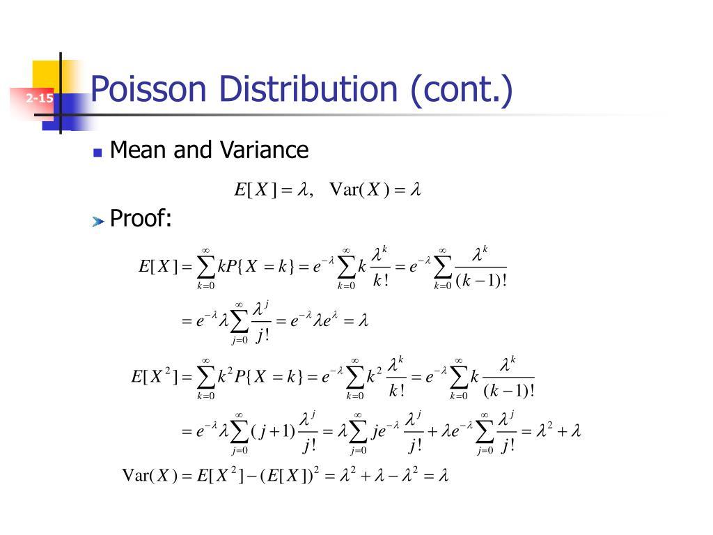 Poisson Distribution (cont.)