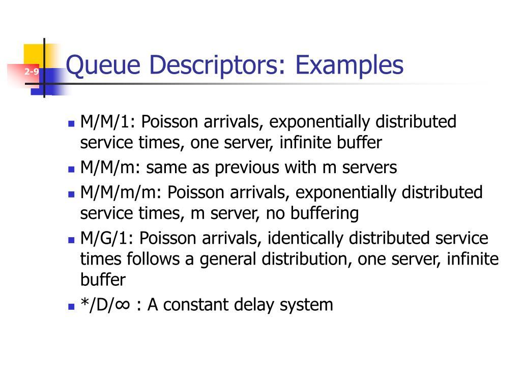 Queue Descriptors: Examples