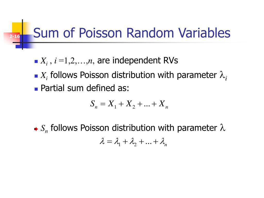 Sum of Poisson Random Variables