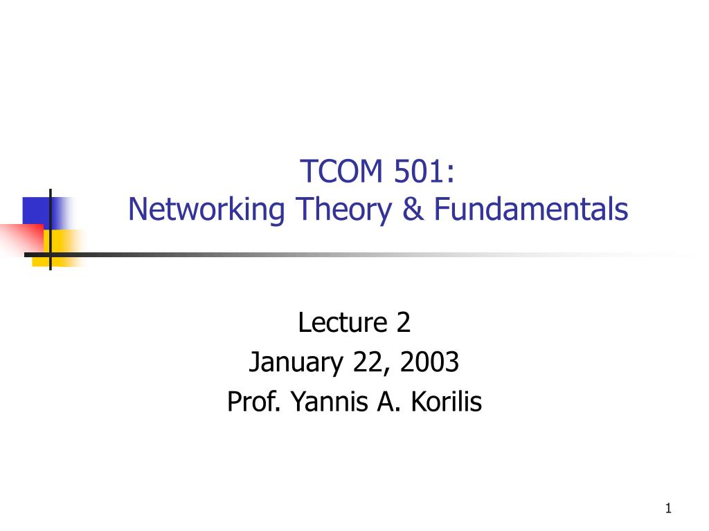 tcom 501 networking theory fundamentals