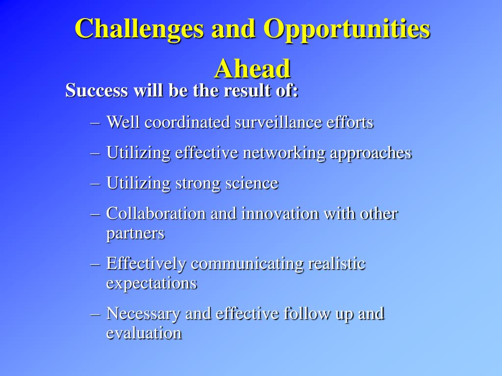 Challenges and Opportunities Ahead