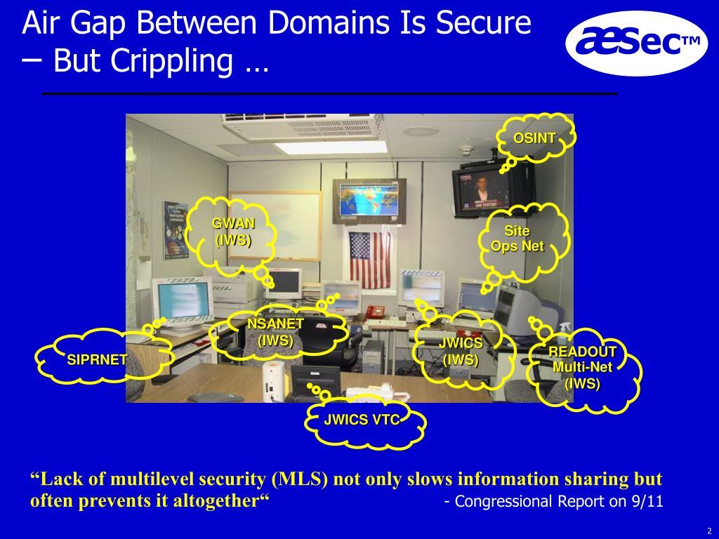 Air Gap Between Domains Is Secure