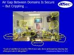 air gap between domains is secure but crippling