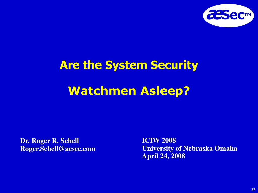 Are the System Security