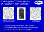 challenge is cds connectivity a theorem from science