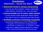 conclusion watchmen sound the alarm