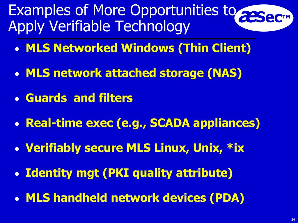 Examples of More Opportunities to Apply Verifiable Technology