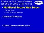 illustrative mls demonstrations at uno on cots gtnp kernel