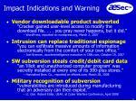 impact indications and warning