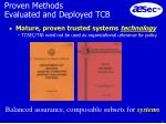 proven methods evaluated and deployed tcb