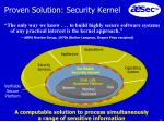 proven solution security kernel