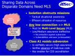 sharing data across disparate domains need mls