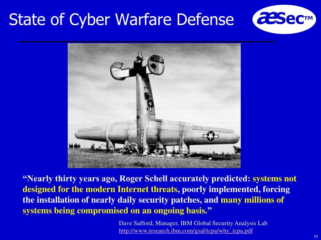State of Cyber Warfare Defense