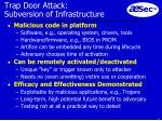 trap door attack subversion of infrastructure