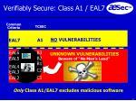 verifiably secure class a1 eal7