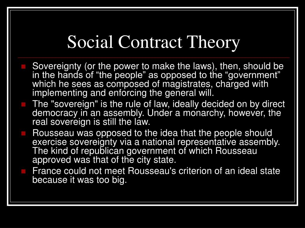 what is the social contract theory Pros and cons of social contract theory arguments for o based on individual from hu 4640 at itt tech.