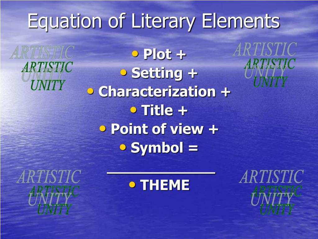 Equation of Literary Elements