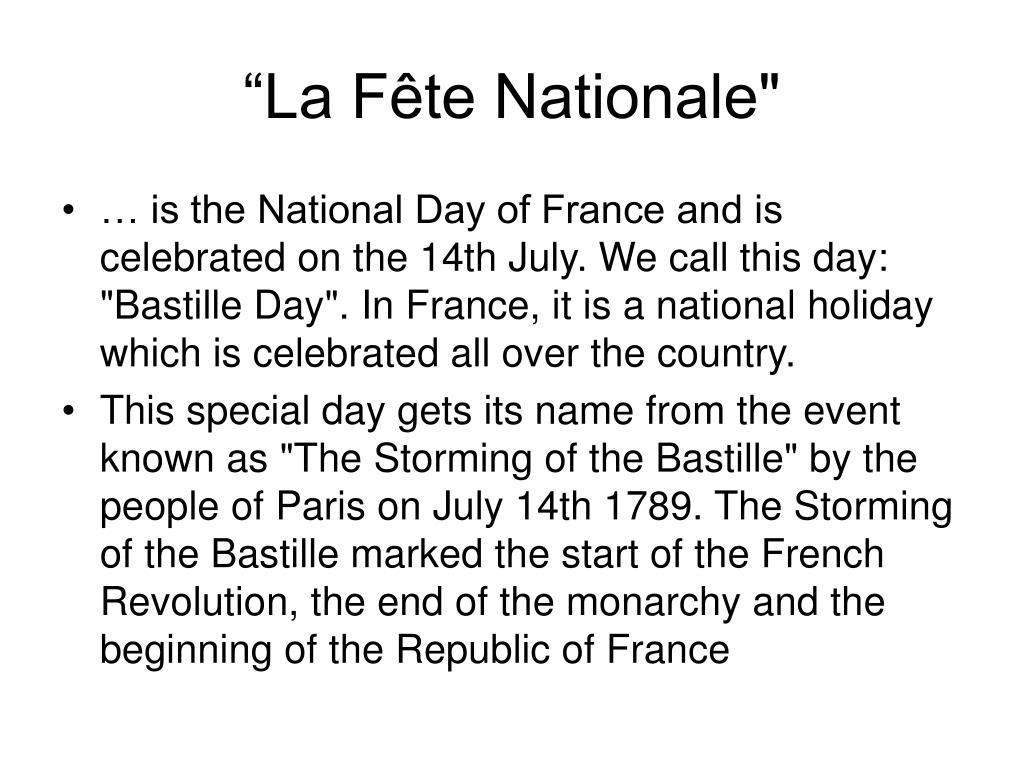 """""""La Fête Nationale"""""""