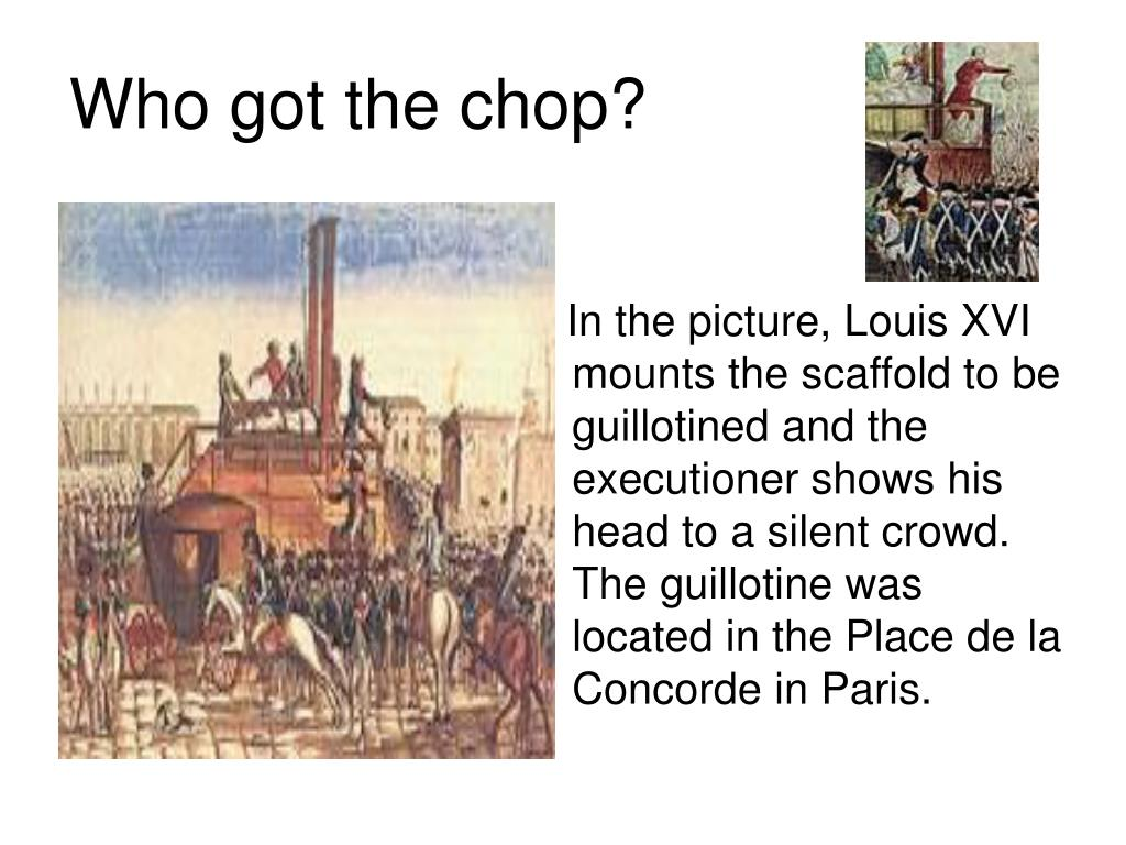 Who got the chop?