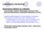 learning by monitoring