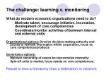 the challenge learning v monitoring