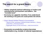 the search for a grand theory