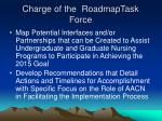 charge of the roadmaptask force