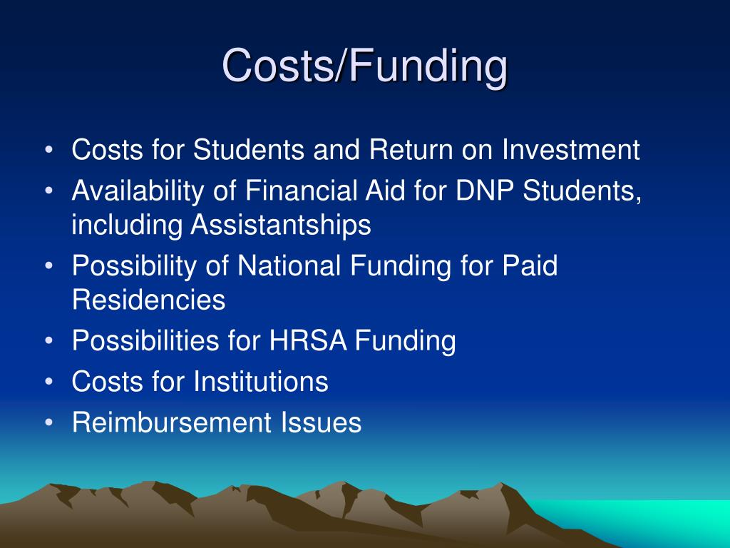 Costs/Funding