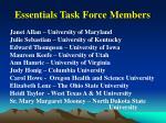 essentials task force members