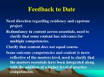 feedback to date82