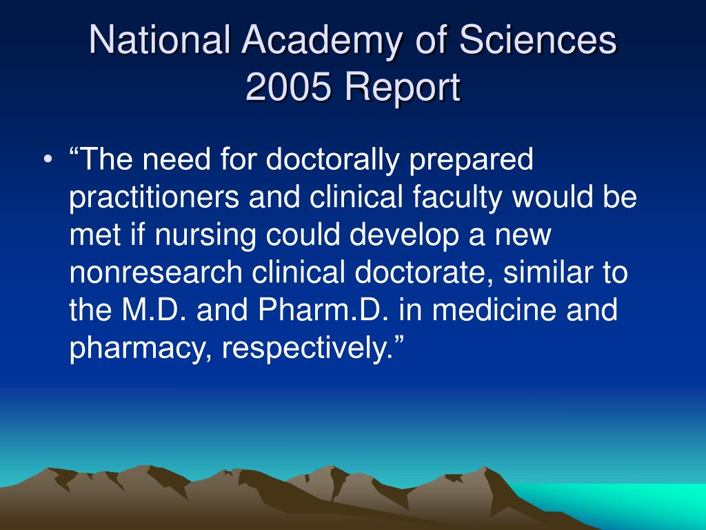 National Academy of Sciences 2005 Report