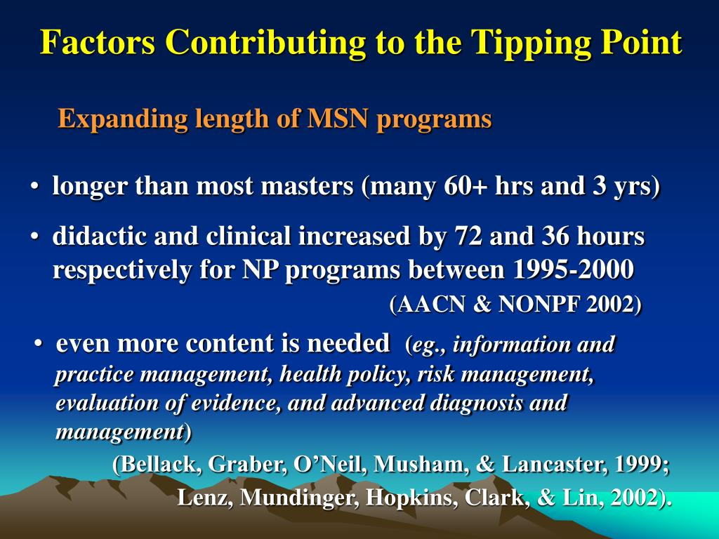 Factors Contributing to the Tipping Point