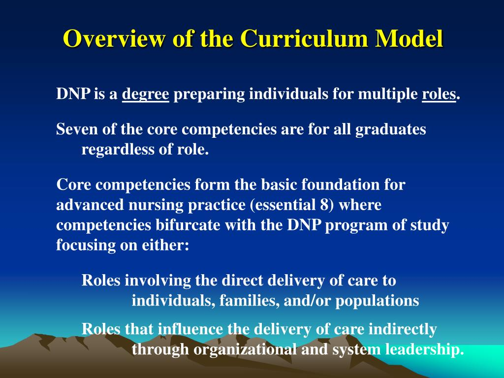 Overview of the Curriculum Model