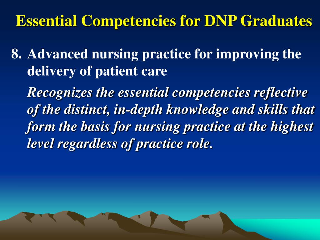 Essential Competencies for DNP Graduates